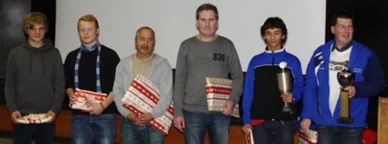 Die Kandidaten v. l. n. r.: Christoph Liegmann, Jonas Bennet Kathke, Norbert Schummer, Björn Kowalik, Tarek Mgherbi, Thorsten Spens