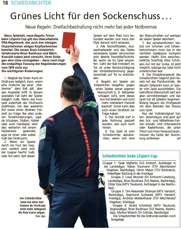 Dank an die Landeszeitung (www.landeszeitung.de/sport)!